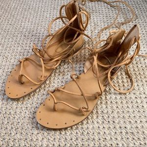 Zara lace up sandals. Great condition.